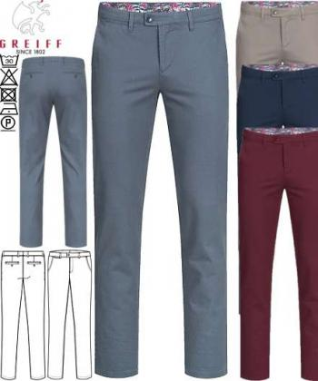 Herren Chino Hose Greiff Casual Regular Fit