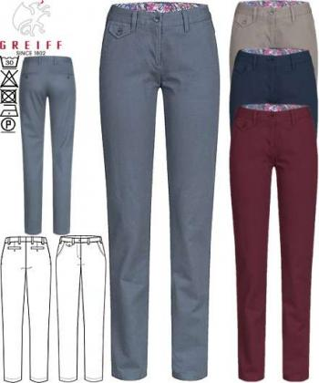 Greiff Damen Chino Hose Casual Regular Fit