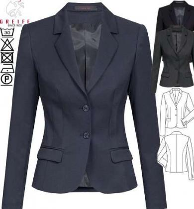 Damen Blazer BASIC 2-Knopf Slim Fit