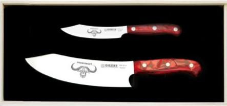 Premium Kochmesser Set, 2-teilig, Red Diamond, Johannes Giesser