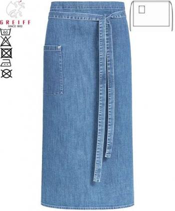 Bistroschürze hellblau light blue denim