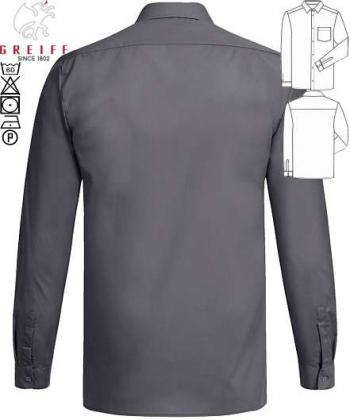 Herren-Hemd anthrazit Greiff langarm Basic Regular Fit