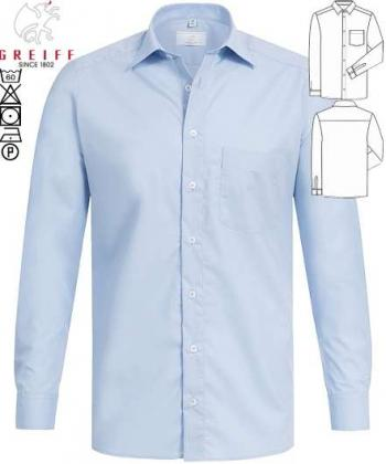 Greiff Hemd hellblau langarm Basic Regular Fit