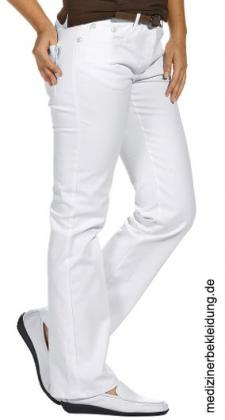 Damenhose weiß Stretch 5-Pocket Leiber