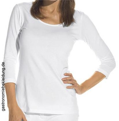 Damen Shirt weiß 3/4 Arm Stretch Leiber