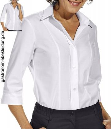 Damen Stretch Bluse weiß 3/4 Arm