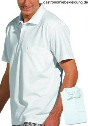 Polo-Pique-Shirt 1/2 Arm, weiss