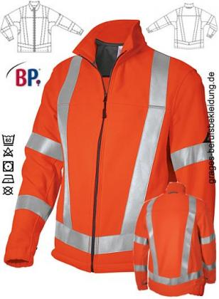 Warnschutz Fleecejacke orange
