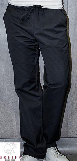 GREIFF Herren Kochhose mit Gummibund in schwarz
