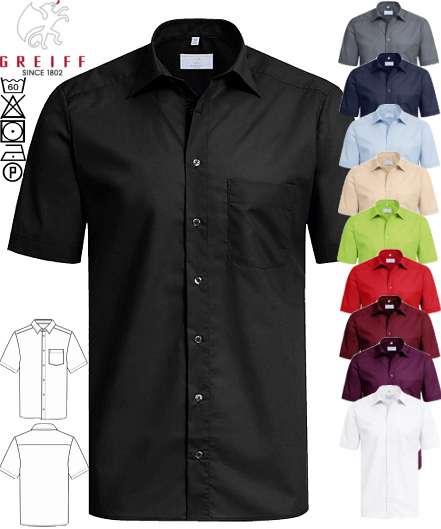 online retailer 68dbb 7bf03 Greiff Hemd kurzarm schwarz & farbig
