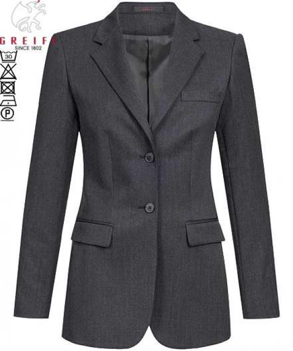 Greiff Damen-Blazer anthrazit Basic 2-Knopf Comfort Fit