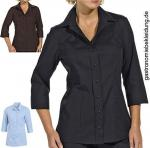 Damen Stretch Bluse 3/4 Arm